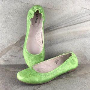 L.L. Bean Leather Ballet Flats Size 7.5